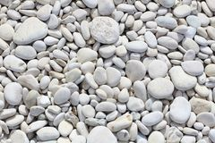 White pebbles Royalty Free Stock Photography