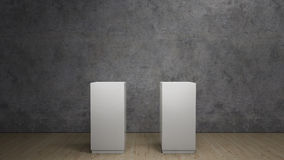 White pedestals Stock Photos