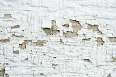White peeling paint. Detail photo of white paint peeling on the outside of a house royalty free stock photography