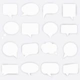 White Peeling Speech Bubbles set. Vector illustration. Stock Photos