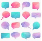White Peeling Speech Bubbles set. Vector illustration. Stock Images