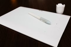 White Pen graphics tablet Stock Photography