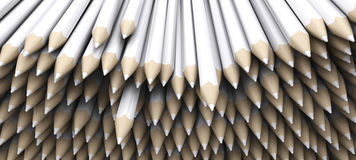 White pencil crayons Stock Image