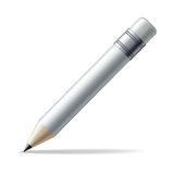 White pencil Royalty Free Stock Images