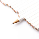 White pencils Royalty Free Stock Images