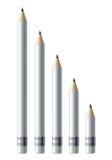 White pencils Royalty Free Stock Photo