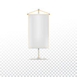 White pennant or flag Royalty Free Stock Image