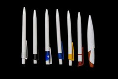 White pens Stock Image