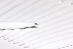 White pens Stock Photography