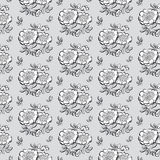 White peony floral sketch. spring flower vector illustration. bl Stock Photo