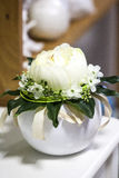 White peony. A White peony table decoration Royalty Free Stock Photo
