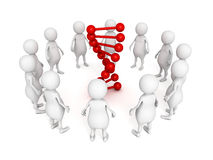 White people in circle around  DNA chain Royalty Free Stock Photography