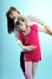 White people exercising ballet Royalty Free Stock Photos