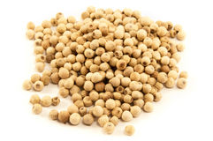 White pepper grains Royalty Free Stock Photography