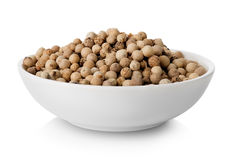 White pepper in plate stock image