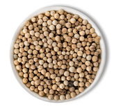 White pepper in plate royalty free stock photos