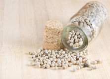 White pepper seeds Royalty Free Stock Photo