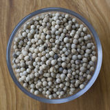 White pepper spice closeup in a bowl.  Royalty Free Stock Images