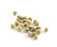 White pepper on white background Royalty Free Stock Photography