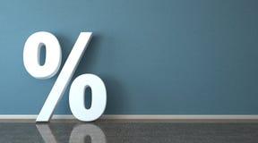 White Percent Room Stock Image