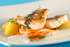 White Perch, Fish Fillet. Royalty Free Stock Images