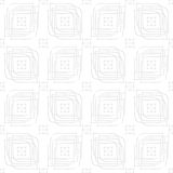 White perforated linear leaves and rectangle groups seamless Royalty Free Stock Photo