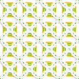 White perforated ornament with green orange seamless Stock Images