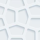 White perforated paper. White perforated paper with cut out effect. Abstract 3d seamless background. Vector EPS10 Stock Image