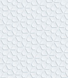 White perforated paper. White perforated paper with cut out effect. Abstract 3d seamless background. Vector EPS10 Royalty Free Stock Photo