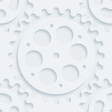 White perforated paper. Royalty Free Stock Photos