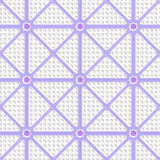 White perforated triangles with purple lines tile ornament Stock Photo