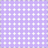 White and perfume colored large tangent dots patern. Colorful white and perfume large tangent dots harmonious pattern. Vector illustration Royalty Free Stock Photo