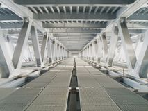 White perspective on the bridge. Bridge in Kiev with such interesting views Stock Images