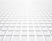 White perspective 3d textured background. White perspective 3d checkered textured background. Vector paper illustration Stock Images