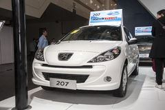 White peugeot 207 car Royalty Free Stock Image