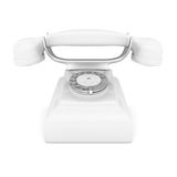 White phone Stock Image
