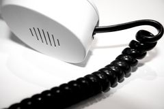 White phone. Office elements royalty free stock photos