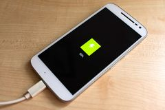 Phone charging stock image