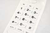 White phone dial pad Royalty Free Stock Photo