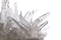 White phosphate crystal. Isolated on the white background Royalty Free Stock Photo