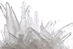 White phosphate crystal. Isolated on the white background Royalty Free Stock Photography