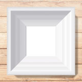 White photo frame from illustration Stock Photography