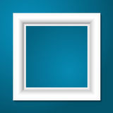 White photo frame. Vector. Royalty Free Stock Image