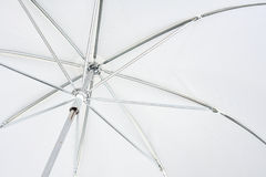 White photo umbrella Stock Images