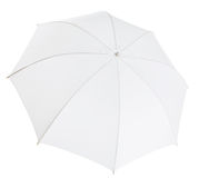White photo umbrella isolated with clipping path Stock Photography