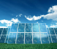 on white photovoltaic Panel Royalty Free Stock Image