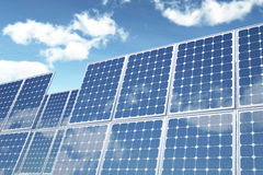 on white photovoltaic Panel Stock Photos