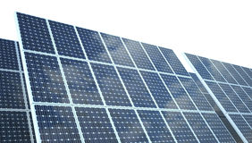 on white photovoltaic Panel Stock Images