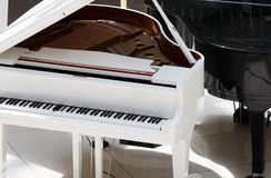 White piano Stock Photos