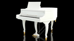 White piano against black Stock Images
